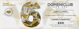 EXE - Apericena e Domeniclub - domenica 16 novembre 2014