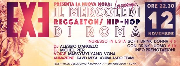 MERCOLEDI' REGGAETON E HIP-HOP