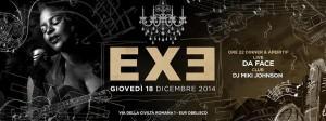 EXE ROMA - Live 'n Club - giovedì 18 dicembre 2014