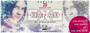 Exe Roma - CLOSING PARTY - sabato 23 maggio 2015