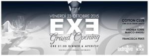 Exe Roma - ELEGANCE - venerdì 23 ottobre 2015
