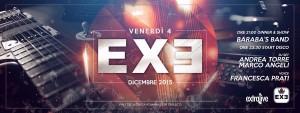 EXE Roma - BARABA'S BAND LIVE 'n DISCO - venerdì 4 dicembre 2015