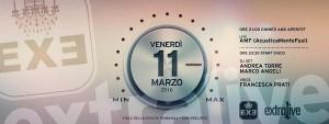 Exe Roma - Live 'n Disco - venerdì 11 marzo 2016