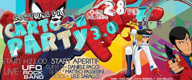 CARNEVALE 2017 – MARTEDI' GRASSO – CARTOON PARTY 3.0