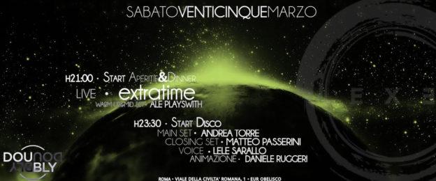 EXTRATIME LIVE 'N SATURDAY DISCO NIGHT