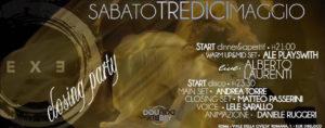Exe Roma - CLOSING PARTY DISCO 'n ALBERTO LAURENTI LIVE - sabato 13 maggio 2017