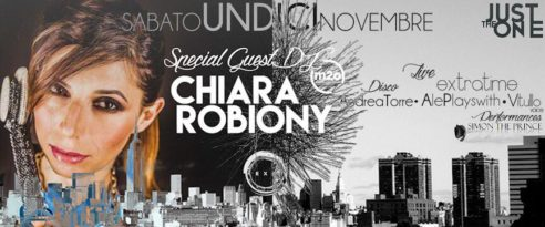 EXTRATIME live + dj guest CHIARA ROBIONY – Just The One