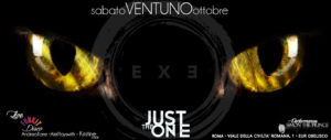 Exe Roma- SERATA CHAT NOIR E LIVE DEI FUN KIT - Just The One - sabato 21 ottobre 2017