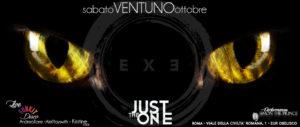 Exe Roma- SERATA CHAT NOIR E LIVE DEI FUN KIT - Just The One - sabato 21 ottobre 2017